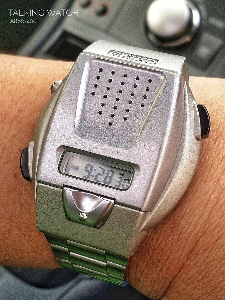 Seiko Talking Watch A860-4001