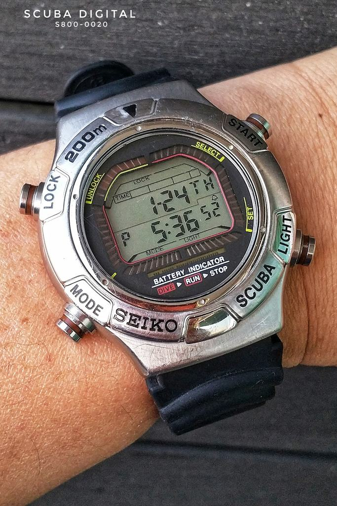 Seiko Digital Scuba S800-0020