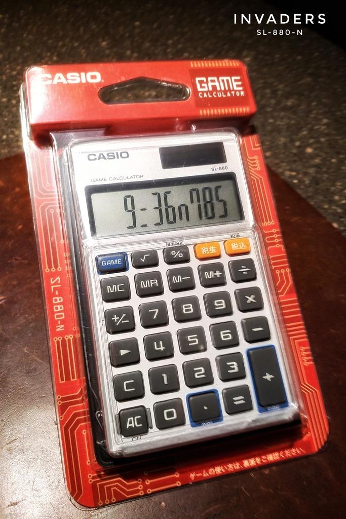 CASIO Game Calculator - Invaders - SL-880-N